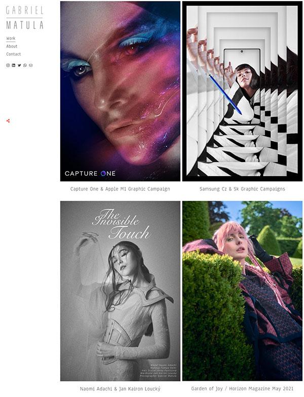 Gabriel Matula Portfolio Website Examples