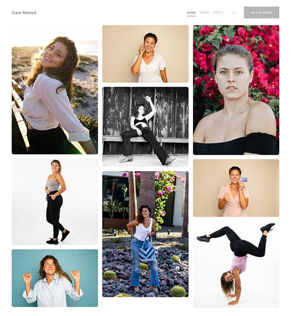 Ciara Reistad Portfolio Website Examples