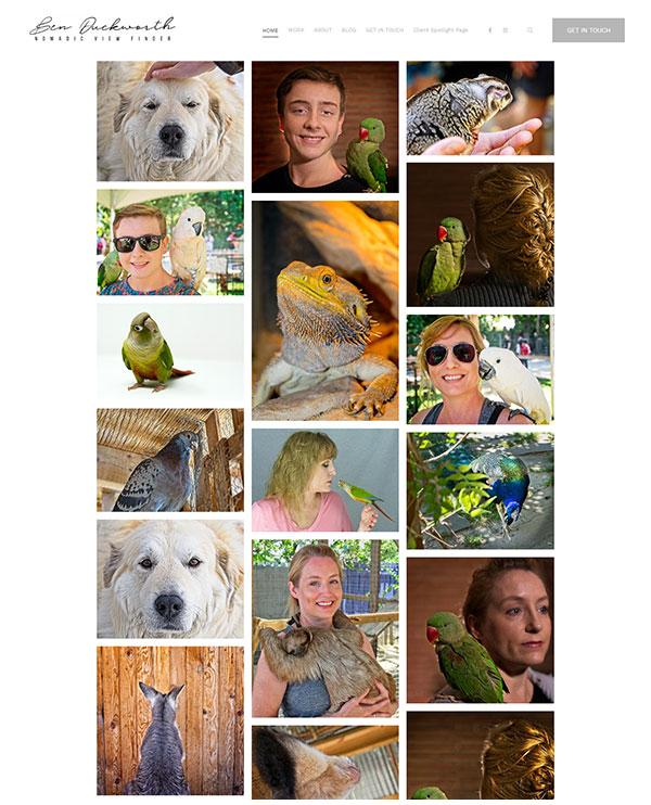 Ben Duckworth Portfolio Website Examples