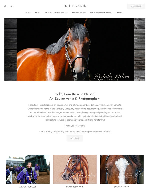 Rickelle Nelson Portfolio Website Examples