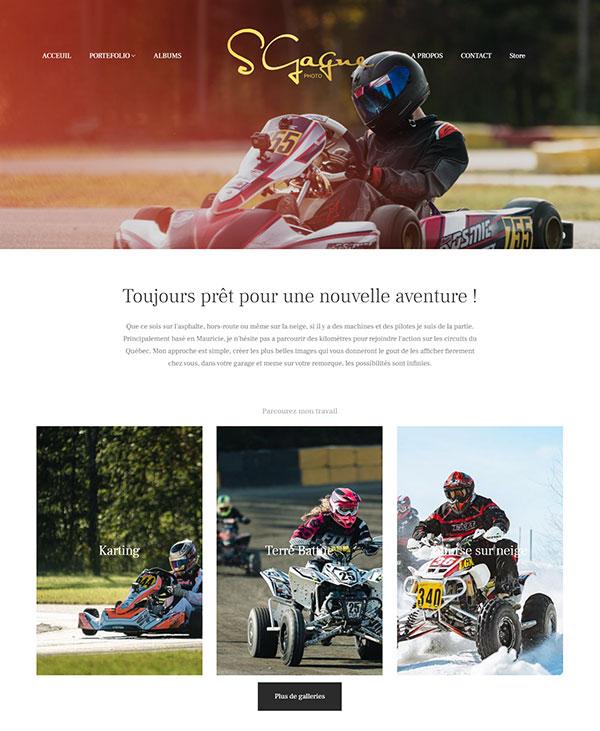 Stephane Gagne Portfolio Website Examples