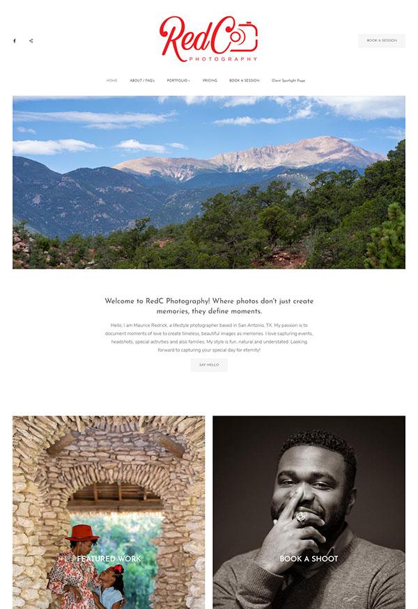 Clarence Redrick Portfolio Website Examples