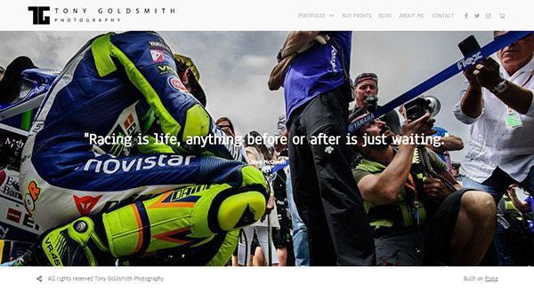 Tony Goldsmith Portfolio Website Examples