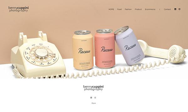 Benny A Cuppini  Portfolio Website Examples