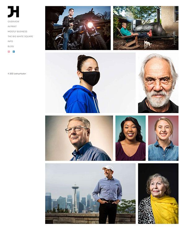 Joshua Huston Portfolio Website Examples