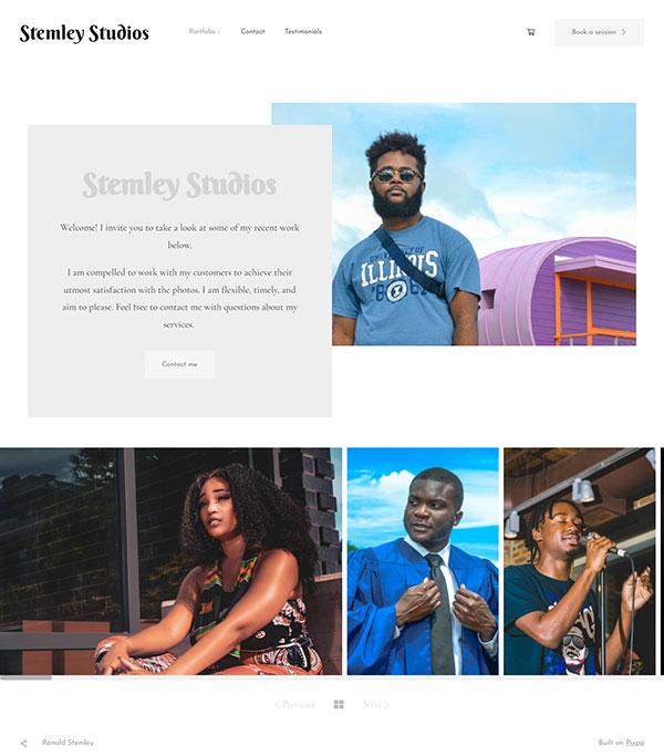 Ronald Stemley Portfolio Website Examples