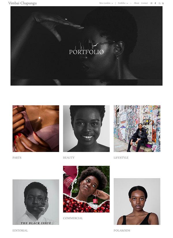 Vimbai Chapungu Portfolio Website Examples