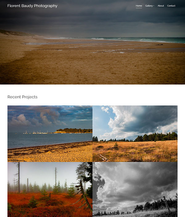 Florent Baudy Portfolio Website Examples