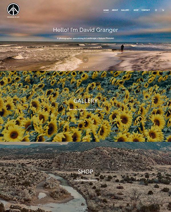 David Granger Portfolio Website Examples
