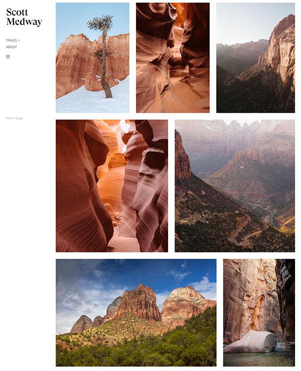 Scott Medway Portfolio Website Examples