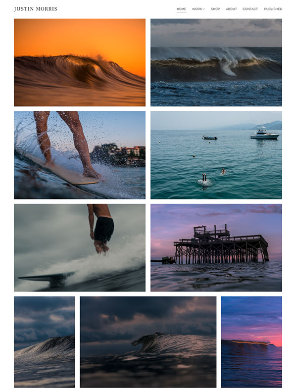 Justin Morris Portfolio Website Examples