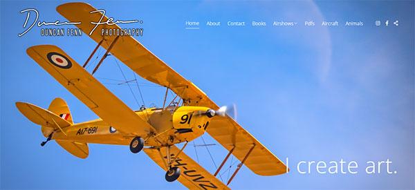 Duncan Fenn Portfolio Website Examples