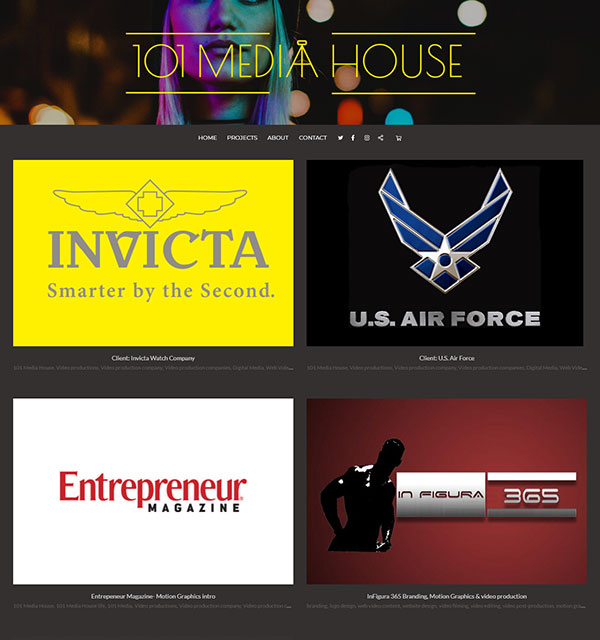 Richard Acosta Portfolio Website Examples