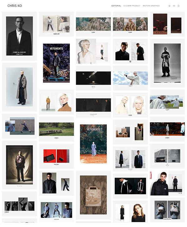 Chris Ko Portfolio Website Examples