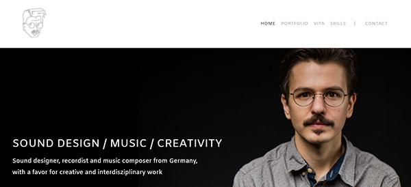 Philippe Spankus Portfolio Website Examples