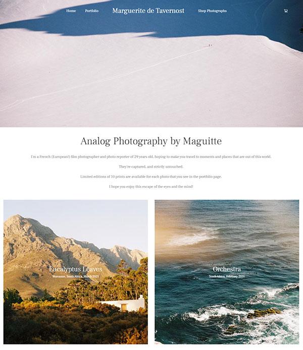 Marguerite de Tavernost Portfolio Website Examples