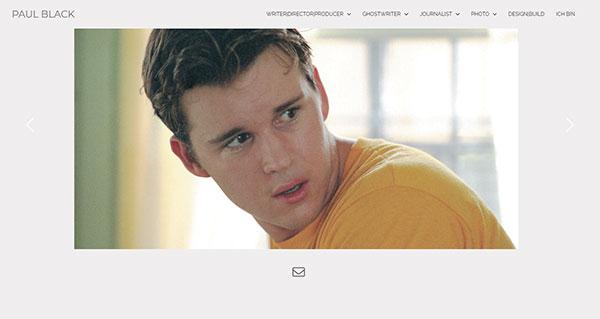 Paul Black Portfolio Website Examples