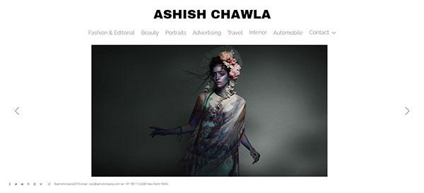 Ashish Chawla Portfolio Website Examples