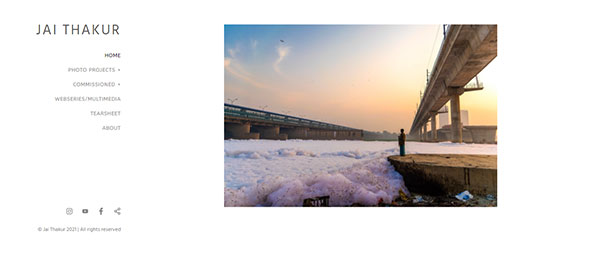 Jai Thakur Portfolio Website Examples