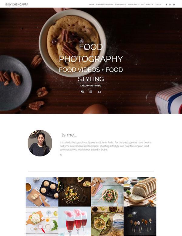 Insy Chengappa Portfolio Website Examples