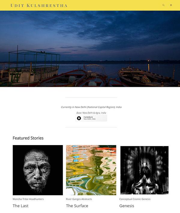Udit Kulshrestha Portfolio Website Examples