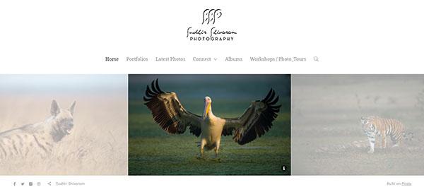 Sudhir Shivaram Portfolio Website Examples