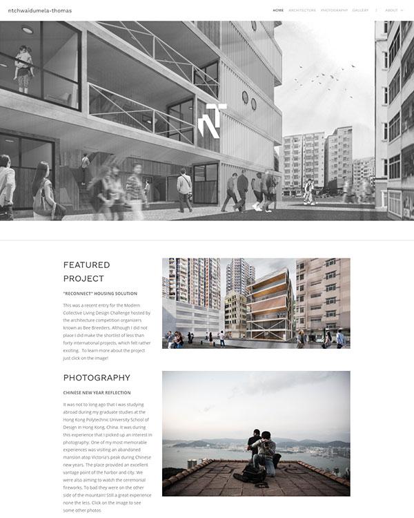 Ntchwaidumela Thomas Portfolio Website Examples