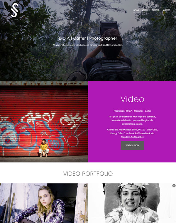 Josip Jukic-Sunaric Portfolio Website Examples