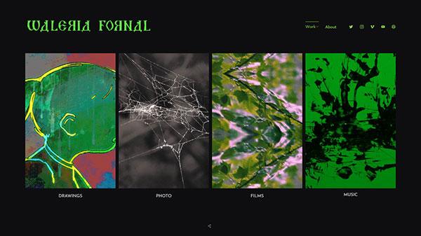 Waleria Fornal Portfolio Website Examples