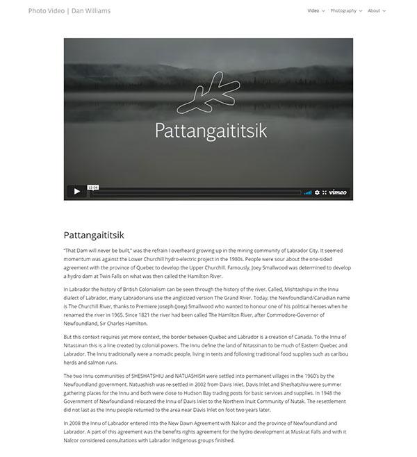 Daniel Williams Portfolio Website Examples