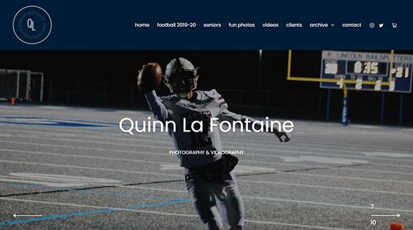 Quinn La Fontaine Portfolio Website Examples
