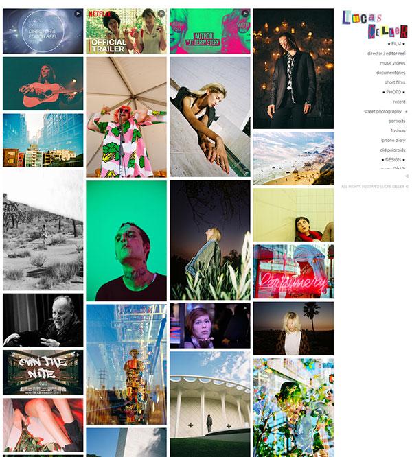 Lucas Celler Portfolio Website Examples