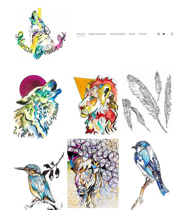Marissa Grondin Portfolio Website Examples