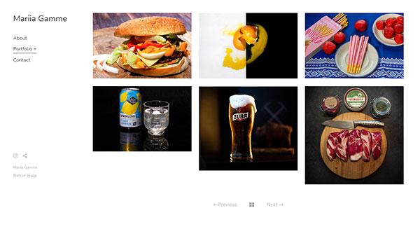 Mariia Gamme Portfolio Website Examples