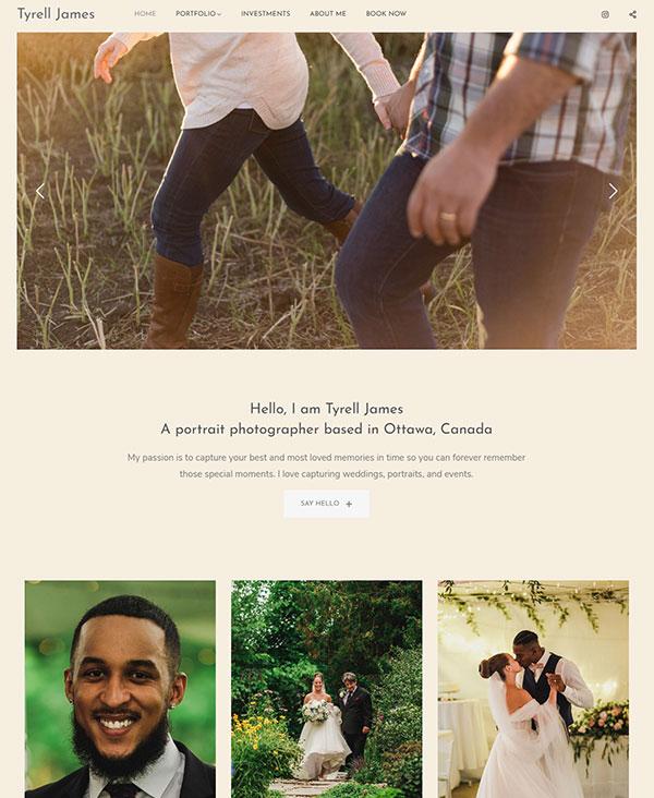 Tyrell James Portfolio Website Examples
