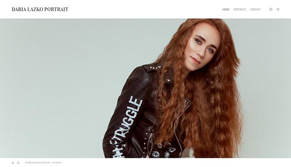 Daria Lazko Portfolio Website Examples