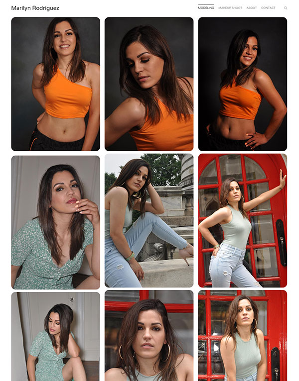 Marilyn Rodriguez Portfolio Website Examples