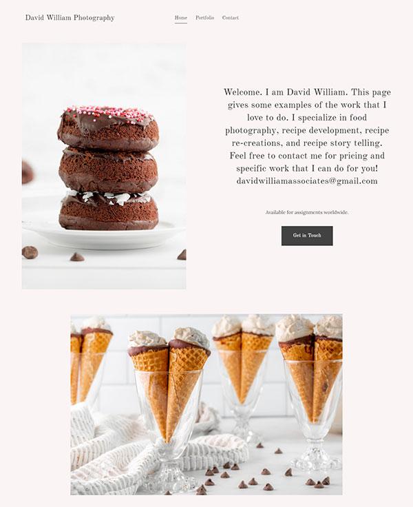 David William Portfolio Website Examples