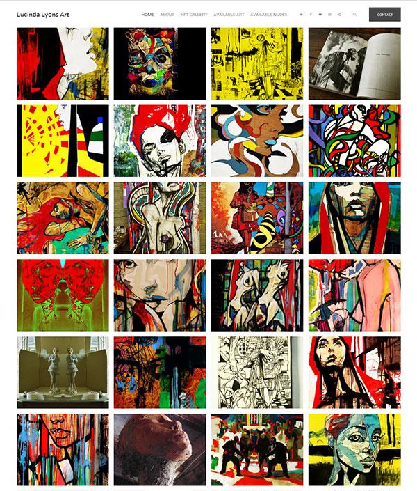 Lucinda Lyons Portfolio Website Examples