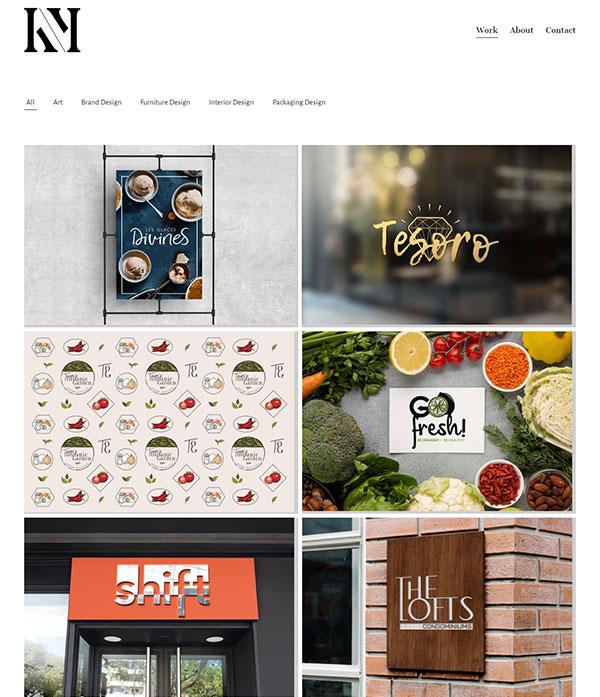Kiara Martino Portfolio Website Examples