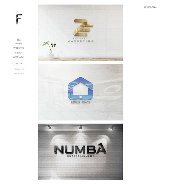 F GRAFIX Portfolio Website Examples