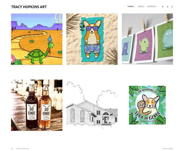 Tracy Hopkins Portfolio Website Examples