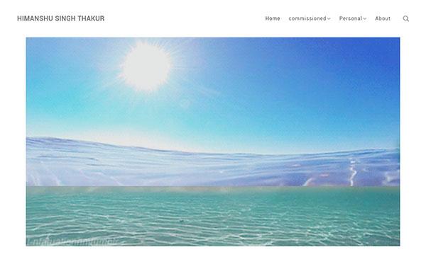 Himanshu Thakur Portfolio Website Examples