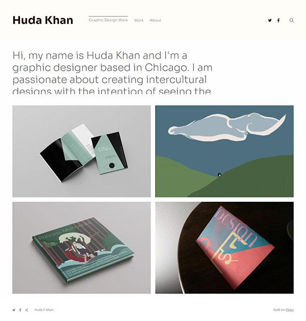 Huda F Khan Portfolio Website Examples