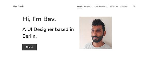Bhavit Shah Portfolio Website Examples