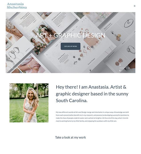 Anastasia Shcherbina Portfolio Website Examples