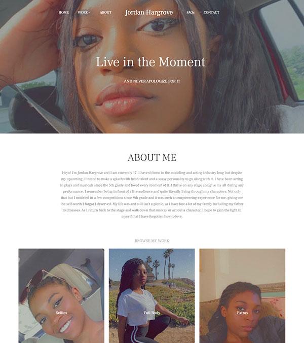 Jo-Jo Hargrove Portfolio Website Examples
