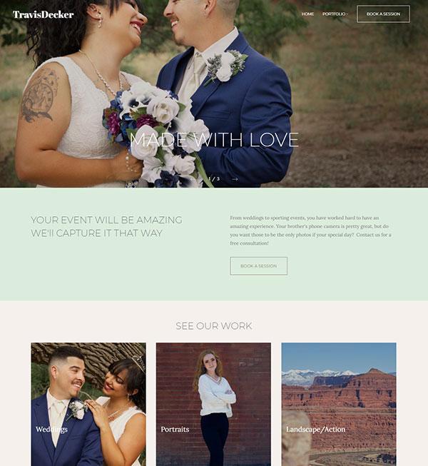 Travis Decker Portfolio Website Examples