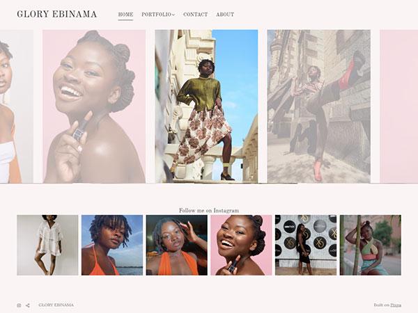 Glory Ebinama Portfolio Website Examples