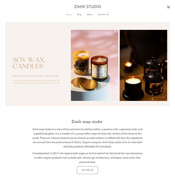 Wothingla  Zimik Portfolio Website Examples